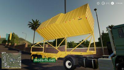 Мод прицепа с системой выгрузки для Farming Simulator 2019
