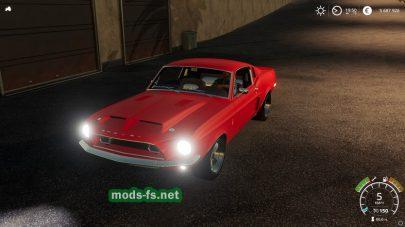 Мод на 1968 Shelby Mustang V8 Flathead