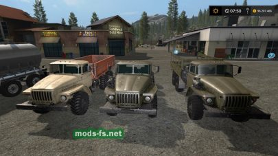 Мод пак техники Ural Truck Set Plus Trailers