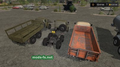 Скриншот мода «Ural Truck Set Plus Trailers»