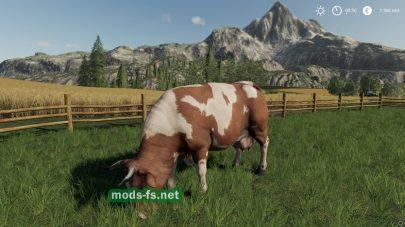 Мод на породы коров в игре FS 19