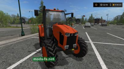 Kubota M1035 Narrow в игре FS 2017