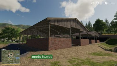 Wood Frame Open Sheds With Brick Wall
