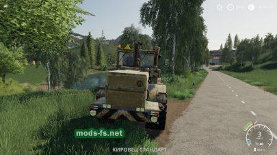 Старый трактор Кировец в игре FS 19