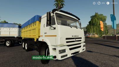 Мод на КамАЗ-45143-6012 для Farming Simulator 2019