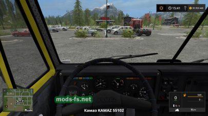 Мод на КамАЗ-55102 для Farming Simulator 2017