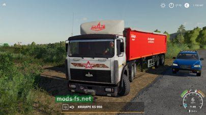 Скриншот мода maz-6422