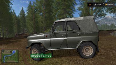 Мод на автомобиль uaz-469