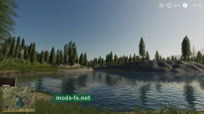 Озеро на карте CrestFarm4FACH
