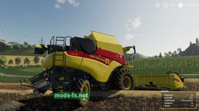 Комбайн NH 120 в игре Farming Simulator 2019