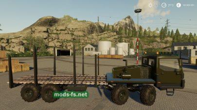 КрАЗ для перевозки леса в игре FS 2019