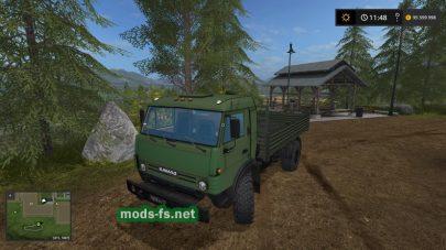 КамАЗ 4х4 для Farming Simulator 2017