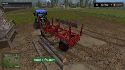 Telega lesovoz для Farming Simulator 2017
