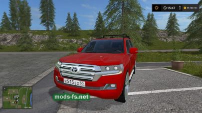 Toyota Land Cruiser 200 2016 для Farming Simulator 2017