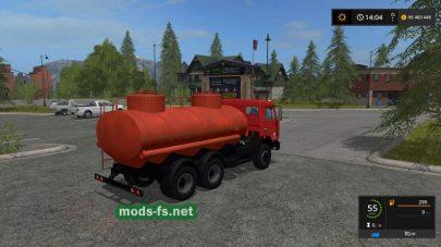 Мод на бензовоз КамАЗ