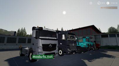 Скриншот мода MercedesTrucksPack