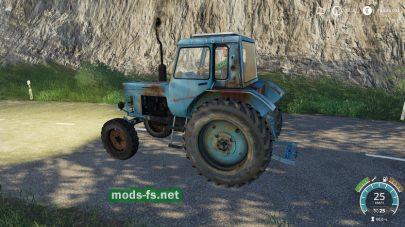 Старый и ржавый МТЗ-80