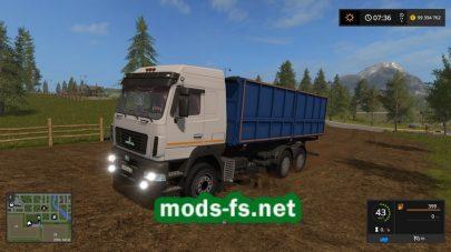 Мод на грузовик Maz