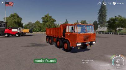 Мод на грузовик Tatra813 8X8