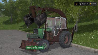 ЮМЗ-6 ПЭ-Ф-1Б (погрузчик-экскаватор)