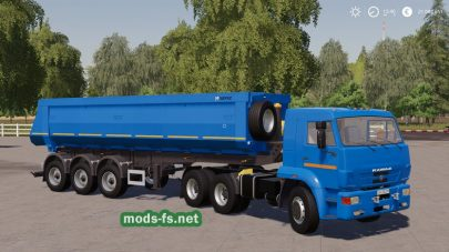 Мод прицепа НефАЗ-9509