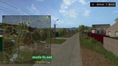 Схема карты «Разброд село»