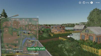 Схема карты «Деревня Бурлаки»
