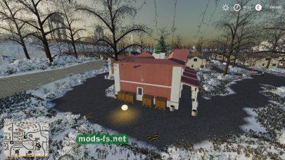 Зима и снег в игре Farming Simulator 2019