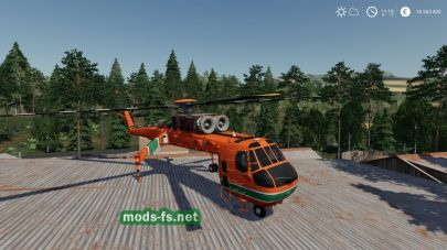 Мод на Forestry Helicopter