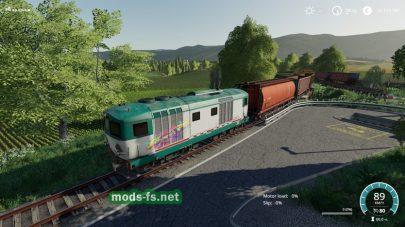 Поезд в игре FS 19